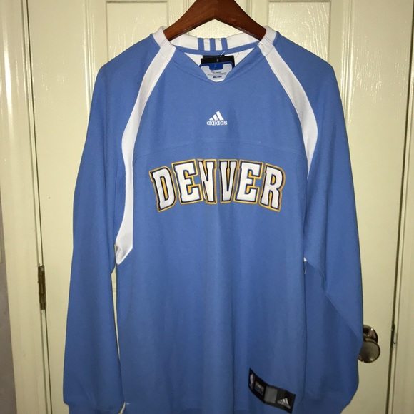 the best attitude 91c09 9d576 Denver Nuggets Adidas warm-up NWT